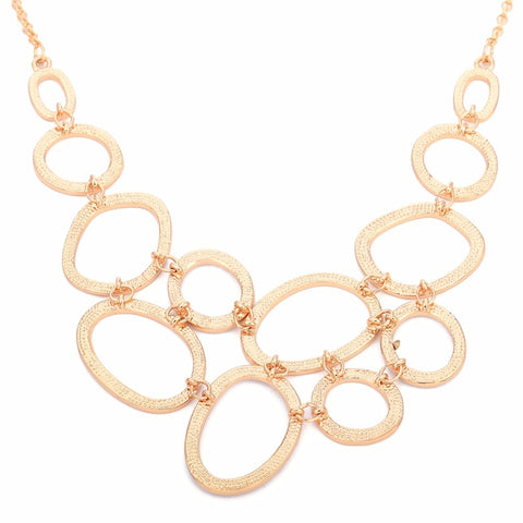 Image of Elegant Ovals & Circles Necklace