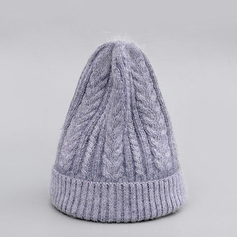 Image of Winter Hat Real Rabbit Fur Unisex Beanie Hat