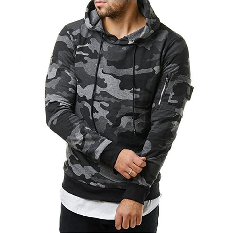 Image of Hoodies Men Autumn 2017 Men Military camouflage sweatshirt Pullover Casual Hip hop Hoodies & Sweatshirts Plus velvet 3d hoodies