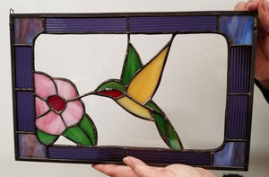 Rockwell Glass Studio Stained Glass Hummingbird