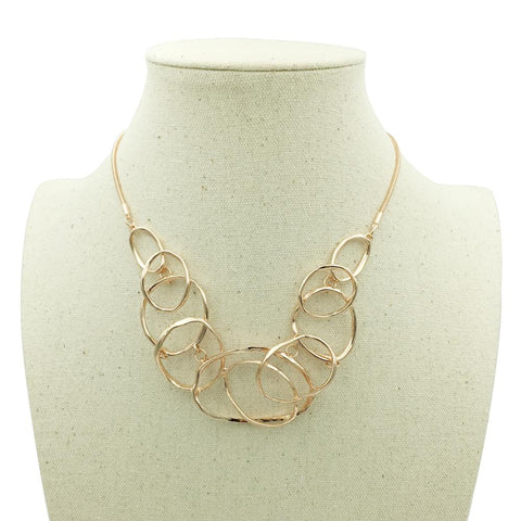 Image of Geometric Multilayer Necklaces