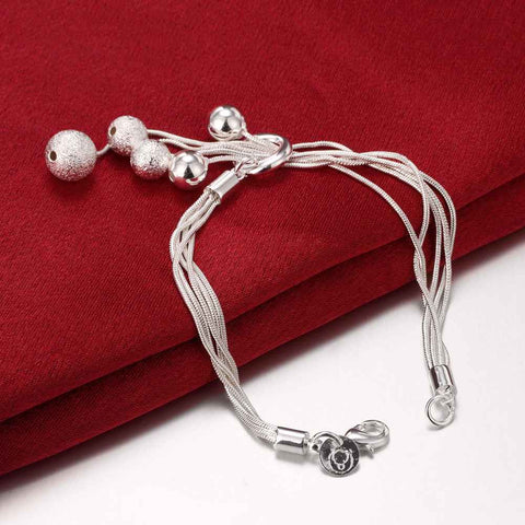 Image of Silver plated Strand Sand beads bracelet