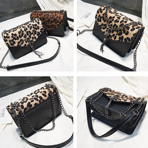 Image of Leopard & Tassel Purse