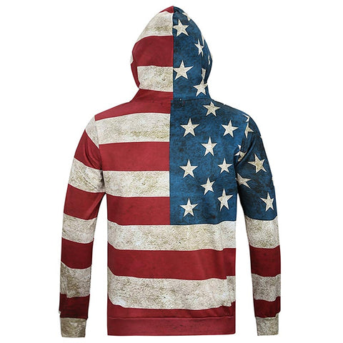 Image of USA Flag Stars Stripped Hoody Hoodies With Cap Hooded Tops North America Fashion Men/women 3d Sweatshirts Print USA Flag Stars Stripped Hoody Hoodies With Cap Hooded Tops