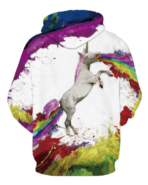 Unicorn Rainbow Horse Digital Printing Hooded Hoodies For Men/Women 3d Sweatshirts Long Sleeve Hoody Cap Pullovers