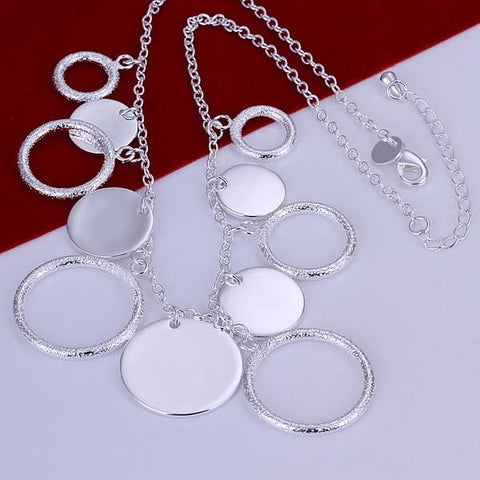 Image of Circle 925 Sterling Silver Necklace