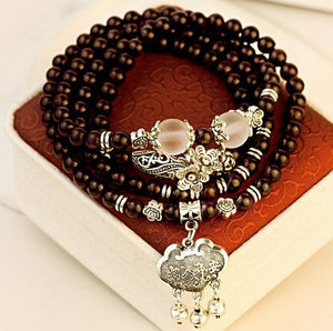 Natural Garnet Stone  Charm bracelet multi layer Energy Regeneration Strength longevity luck