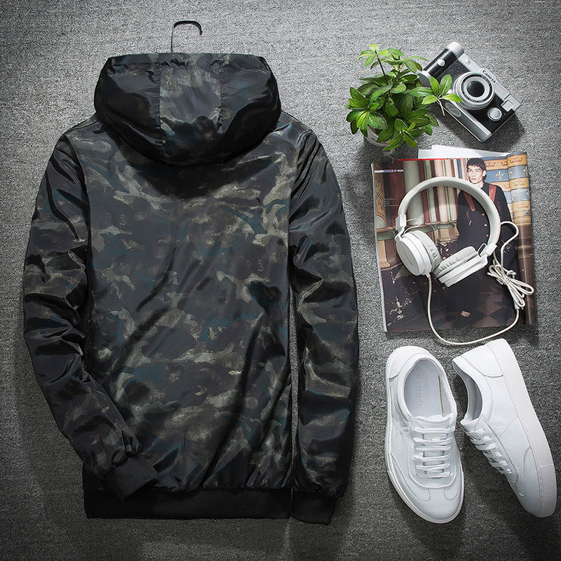New 2017 Spring Autumn Mens Fashion Casual Camouflage Hoodie Jacket Men Waterproof Clothes Men's Windbreaker Coat Male Outwear