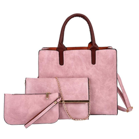 3pcs/Set Women Composite Bags Ladies Handbags PU Leather Shoulder Messenger Bags Tote Bag Shoulder Bags