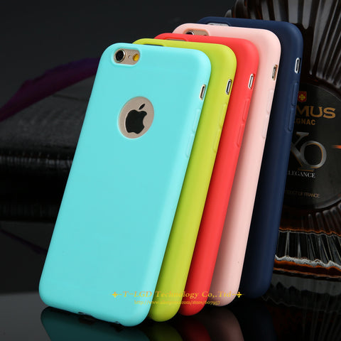 Image of Candy Colors Soft TPU Silicon Phone Cases For iPhone 6 6s 5 5s SE 7 7 Plus Coque Capa