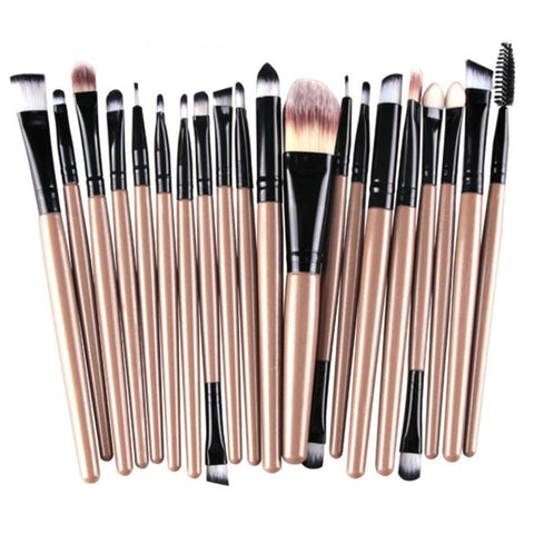 Professional 20pcs/set Makeup Brushes Foundation Powder Eye shadow Blush Eyebrow Lip Brush Cosmetic Tools