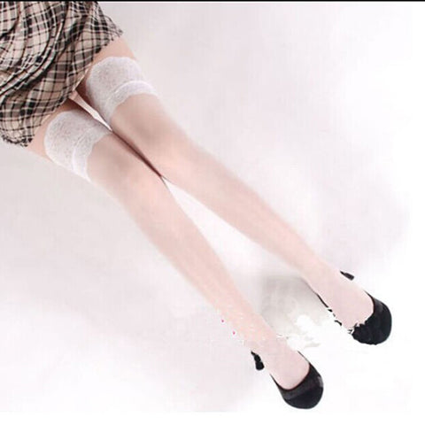 Thigh High Stockings Lace Top Sheer Stay Up Thigh High Stockings Pantyhose