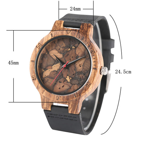 Wood Watches for Men Vintage Handcrafted Wooden Male