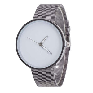 Superior Mens Metal Mesh Band Quartz Wrist Watch June 25