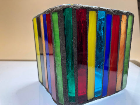 Image of Tulip Mosaic Glass Votive