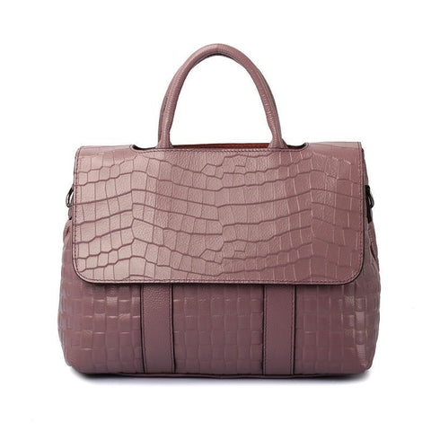 Crocodile Alligator Textured Leather Handbags