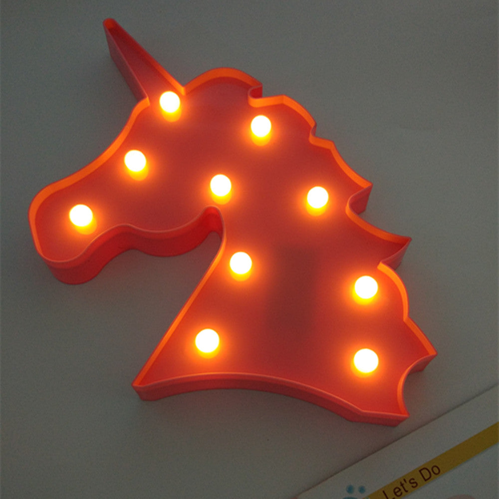 Unicorn Head Led Night Light  Wall