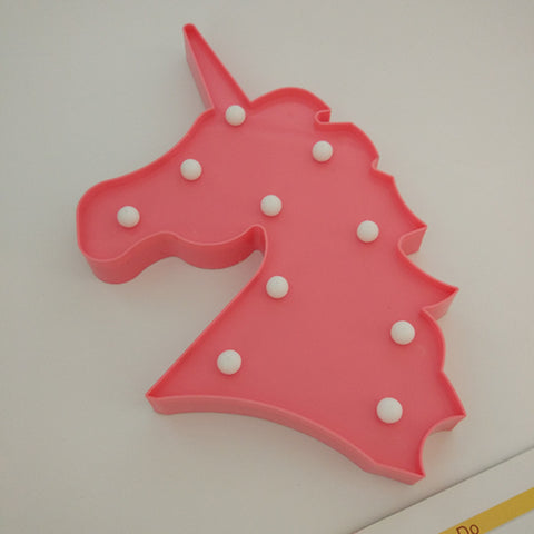 Image of Unicorn Head Led Night Light  Wall