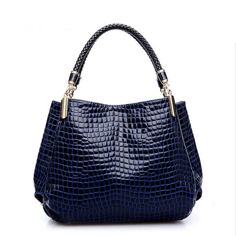 Shoulder High Grade PU Leather Crocodile Pattern Bags