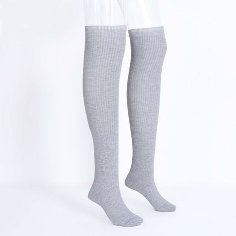 Knit thigh high knee socks long Sexy stockings