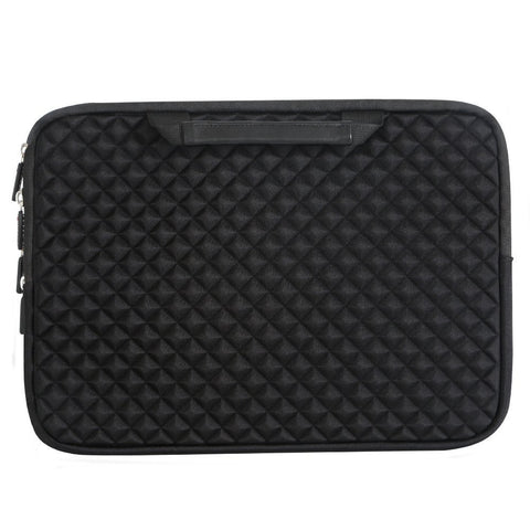 13-13.3 Inch Handle Diamond Foam Laptop Sleeve, Shock Resistant Electronics Accessories Storage Handbag /Stylish Travel