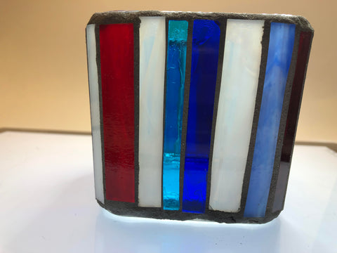 Liberty Mosaic Glass Votive