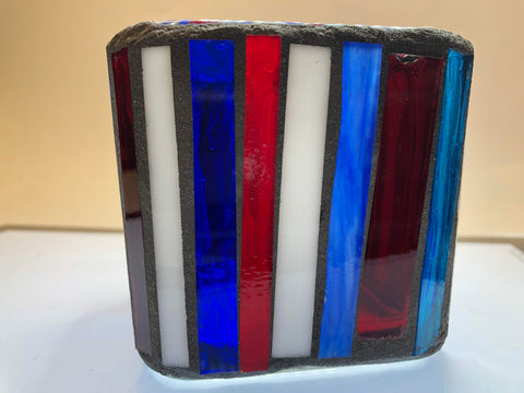 Ocean Mosaic Glass Votive