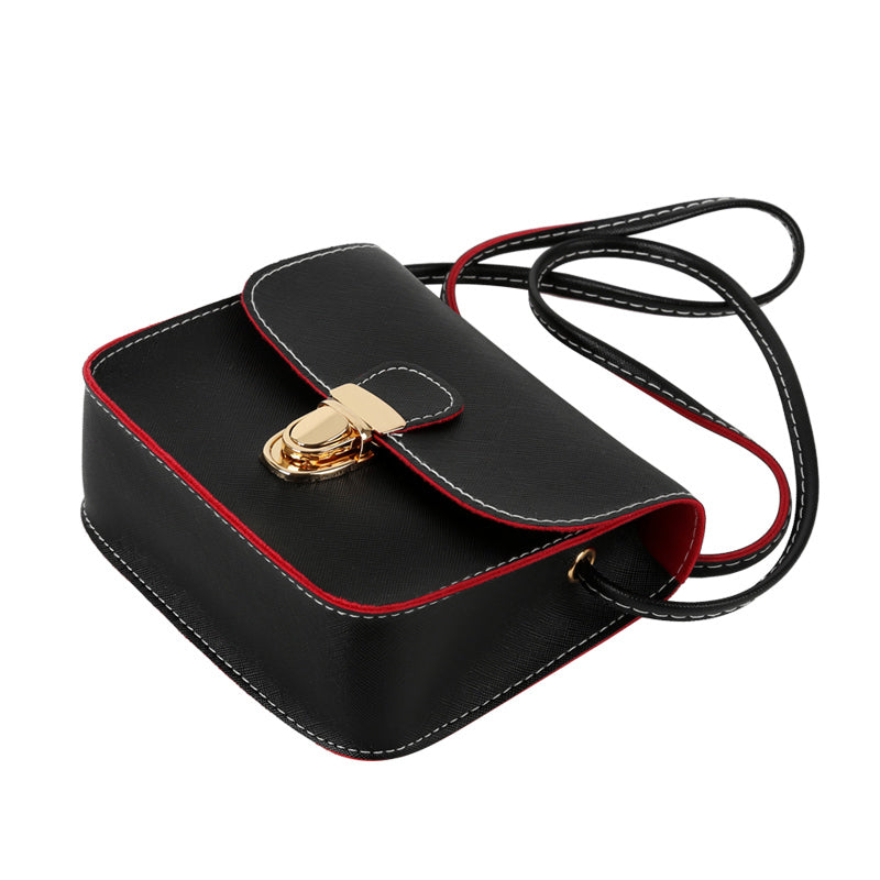 Evening Casual Leather Flap Handbags with Long Cross Over Strap