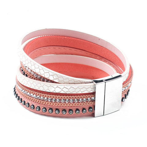 Image of Free Leather & Rhinestone bangle bracelet - (Just pay for Shipping)