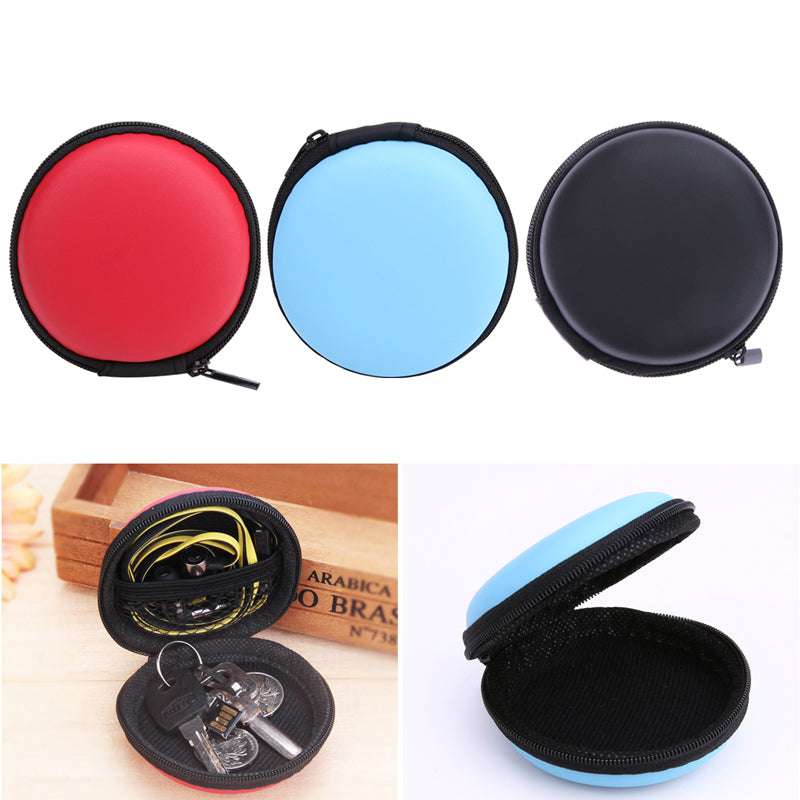 Charging block and ear bud/earphone organizer for your  earphone Wire Box Data Line Cables Storage Box