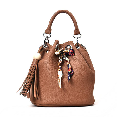 Clutch and Messenger Handbag set with tassel and Crossbody strap - Free Shipping