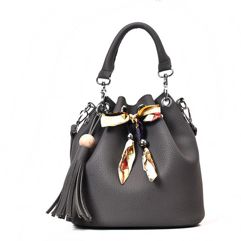Image of Clutch and Messenger Handbag set with tassel and Crossbody strap - Free Shipping