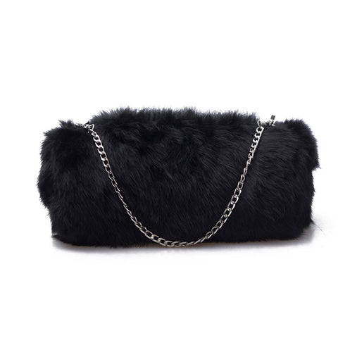 Soft Fur Shoulder Bag Fall 2017