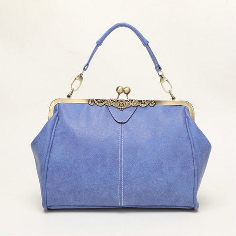 Image of Vintage Classic Metal Clasp Handbags Famous Brand Designer High Quality