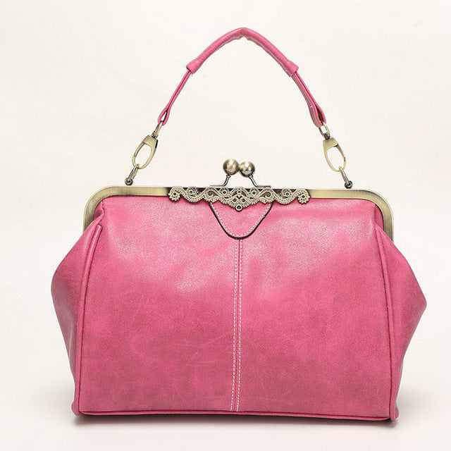 Vintage Classic Metal Clasp Handbags Famous Brand Designer High Quality