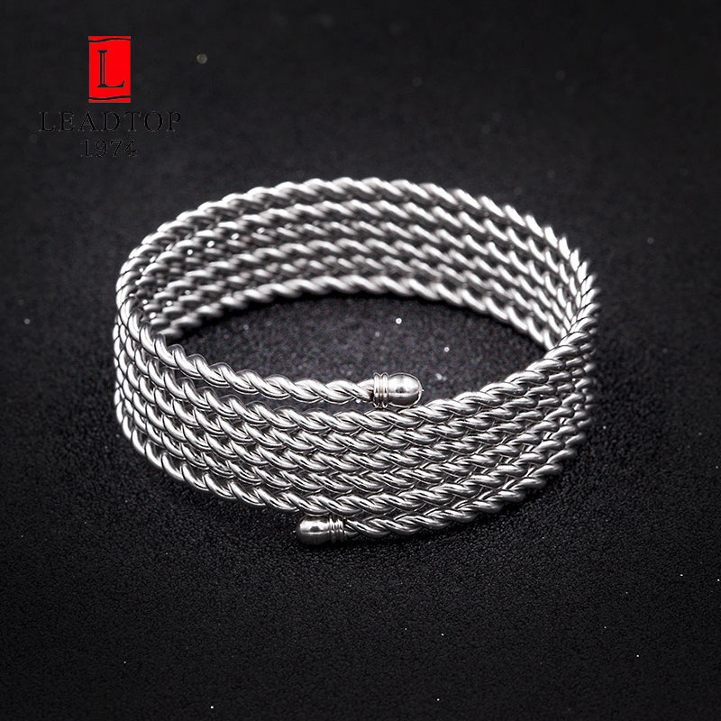 Stainless Steel Silver Cuff Bracelet Simple Wide Bangle