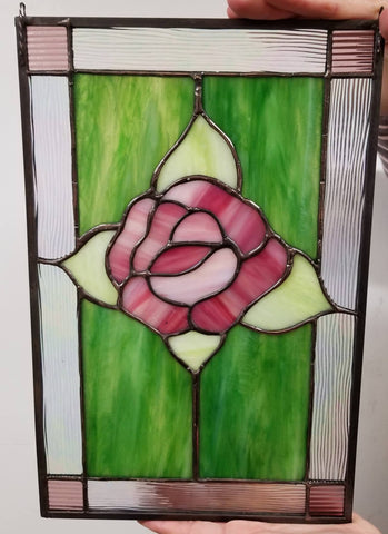 Rockwell Glass Studio Stained Glass Rose Window