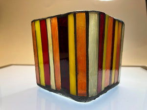 Sunset Mosaic Glass Votive