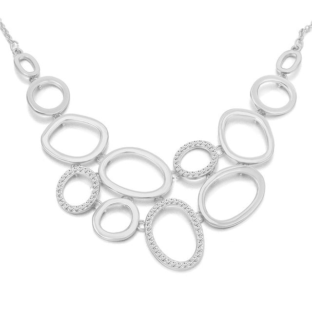Elegant Ovals & Circles Necklace