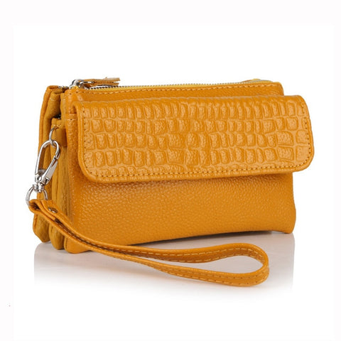 Image of Crocodile Evening Bag with shoulder strap