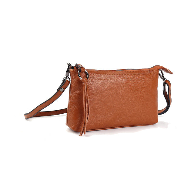 Leather Clutch Genuine Cowhide Leather Small Handbags Cross body