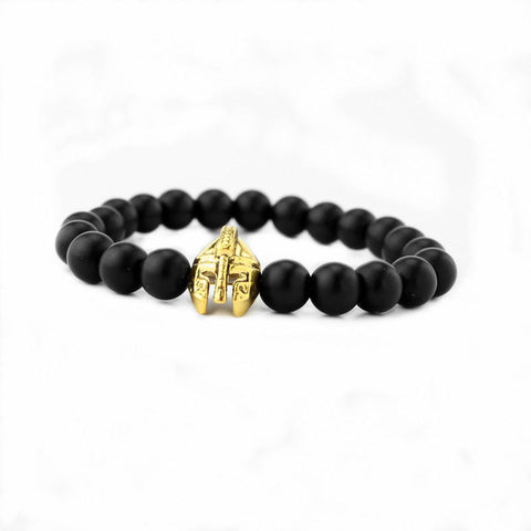 Image of High quality matte beads bracelets Spartan warrior Mask bracelet - Free + Shipping