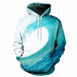 ocean  Sea Waves Sweatshirt Men/Women 3d Hoodies Print Blue Waves Hooded Hoody Brand Hoodies Tracksuits Tops