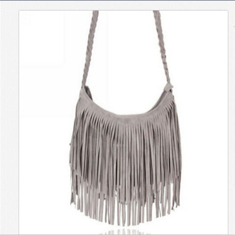 3 Colors fringed Tassel Bags Fringe Messenger Shoulder Tassel Bag Handbag Crossbody Satchel Tote Tassel HandbagShoulder Bags