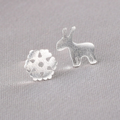 Image of Real 925 Sterling Silver Small Stud Earring