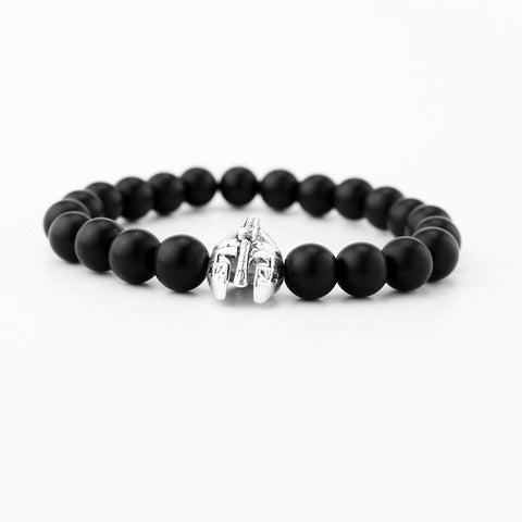 Image of High quality matte beads bracelets Spartan warrior Mask bracelet