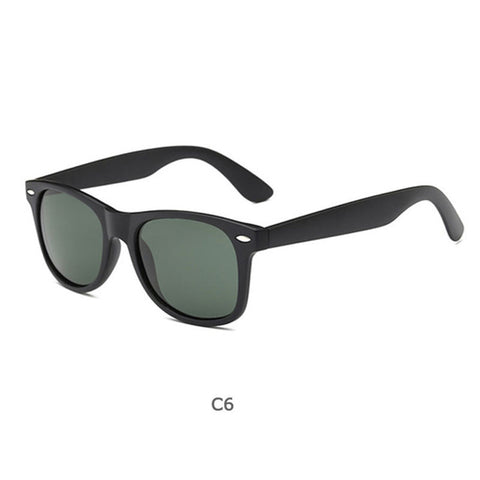 Image of Sunglasses Men Polarized Women Small Vintage Classic Sun Glasses Mirror Eyeglasses UV400 With Cases