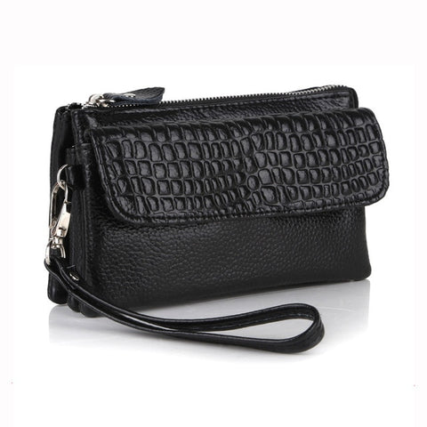 Crocodile Evening Bag with shoulder strap