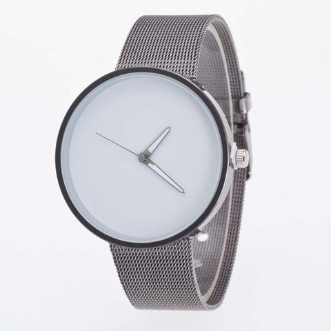 Image of Superior Mens Metal Mesh Band Quartz Wrist Watch June 25