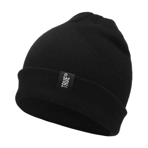 True Knitted Winter Unisex Beanie in Solid Color